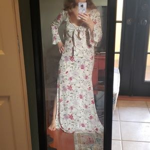 Never worn, Floral maxi dress, new with tags